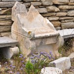 """The so-called """"Moses Seat"""" – remnants of a 2nd century BCE synagogue on the island of Delos"""