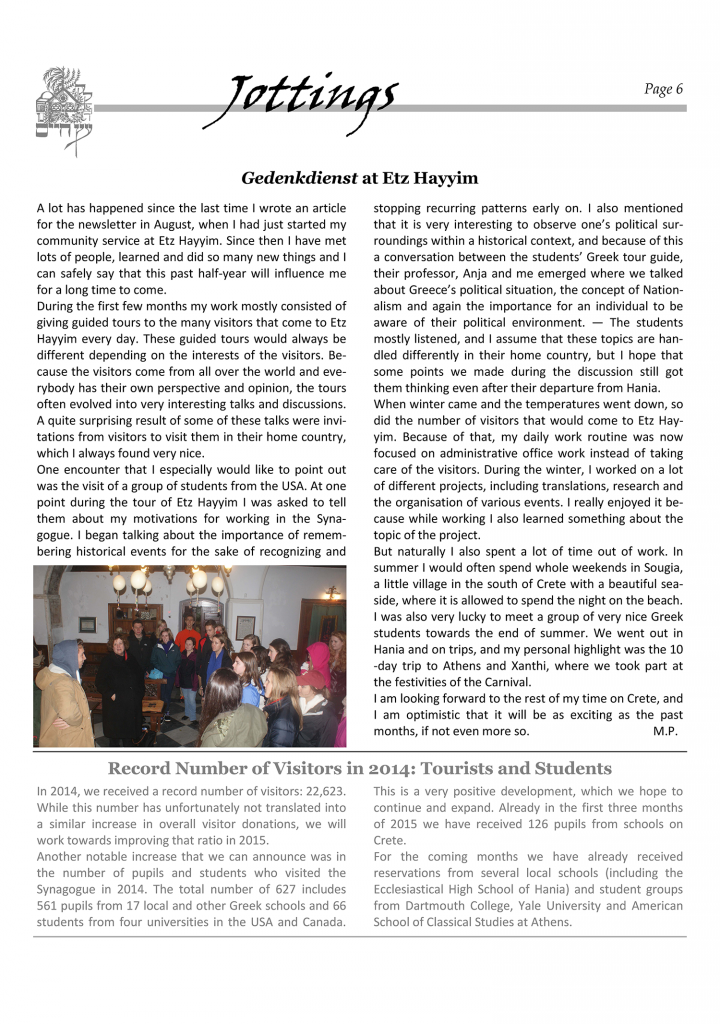 newsletterpessah2015
