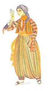 Mid-19th century Romaniote Jewish dress from Ioannina. © Nikos Stavroulakis