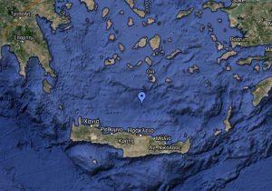 Sinking Point of the Tánaïs: 35° 53' North – 25° 11' East. © public domain, google maps