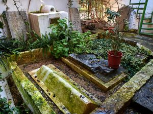 Graves in southern Ronald Lauder courtyard.